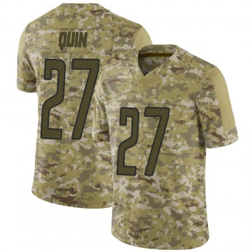 Men's Glover Quin Detroit Lions Nike Limited 2018 Salute to Service Jersey - Camo