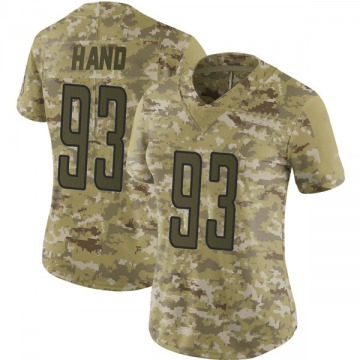 Women's Da'Shawn Hand Detroit Lions Nike Limited 2018 Salute to Service Jersey - Camo