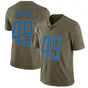 Youth C.J. Moore Detroit Lions Nike Limited 2017 Salute to Service Jersey - Green