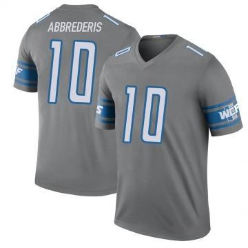 Youth Jared Abbrederis Detroit Lions Nike Legend Color Rush Steel Jersey